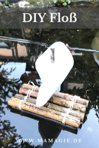 Upcycling: Floß aus Stöcken basteln