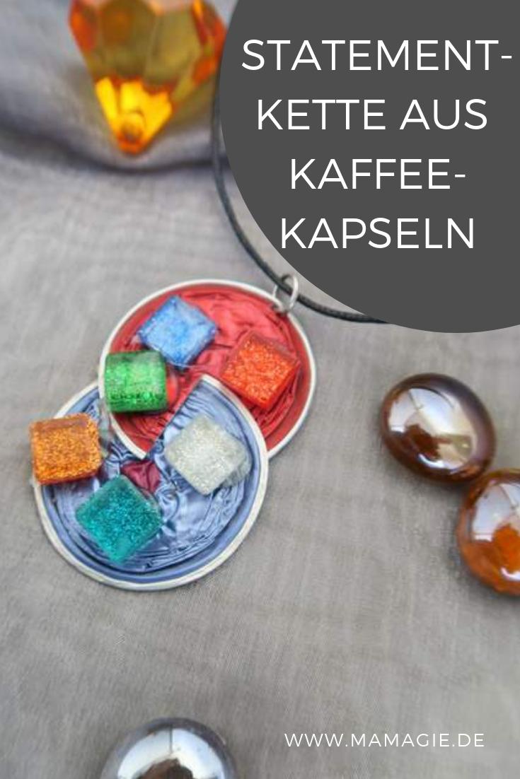 Kette selberbasteln aus Nespresso-Kapseln