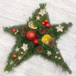 Türstern für Weihnachten selber machen