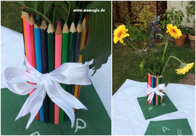 Stiftehalter oder Vase aus Bleistiften