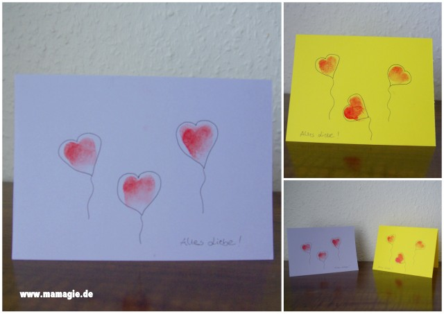 selbstgemachte Valentinskarte