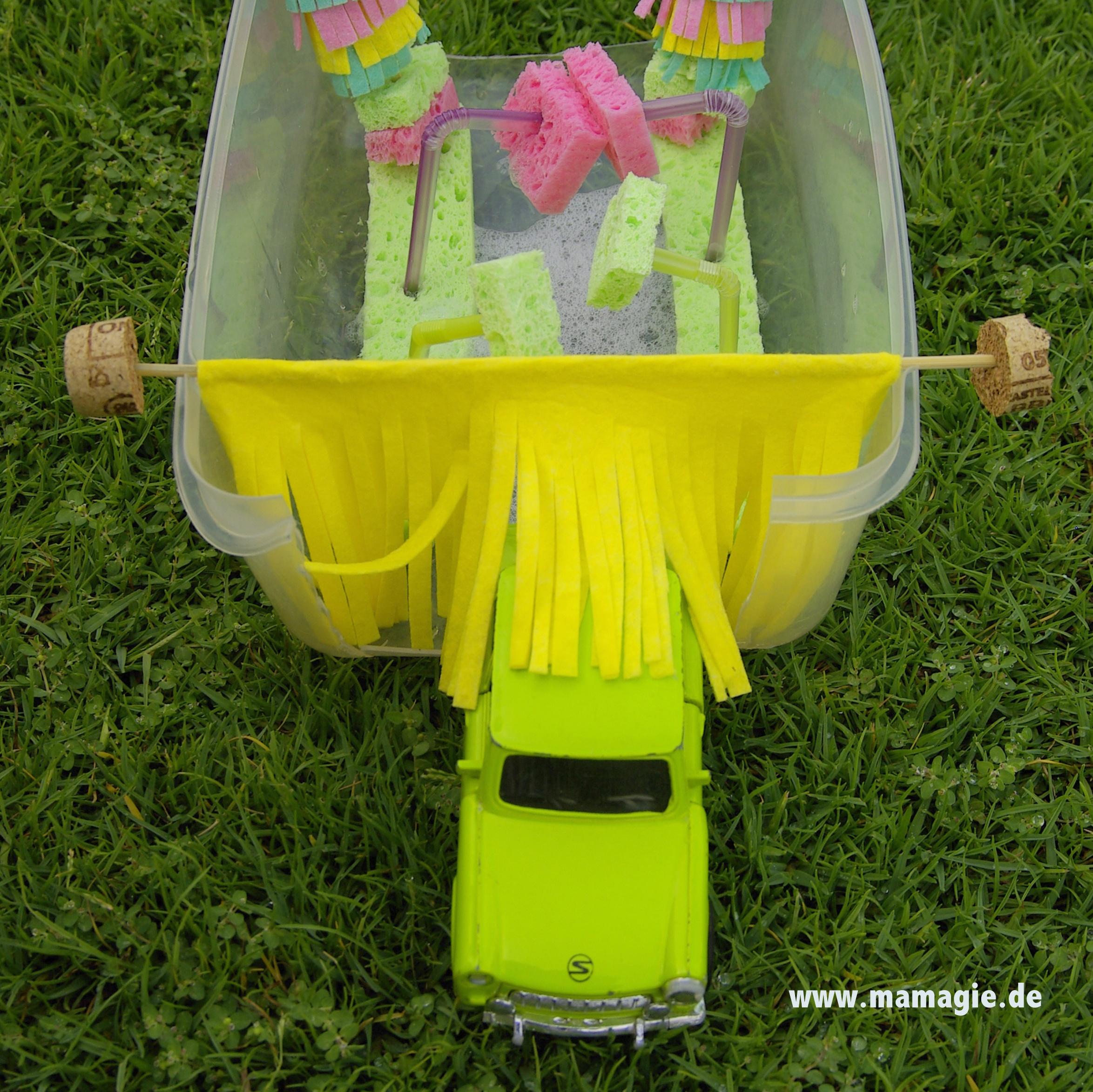 Diy dienstag waschstraße waschanlage spielzeugautos