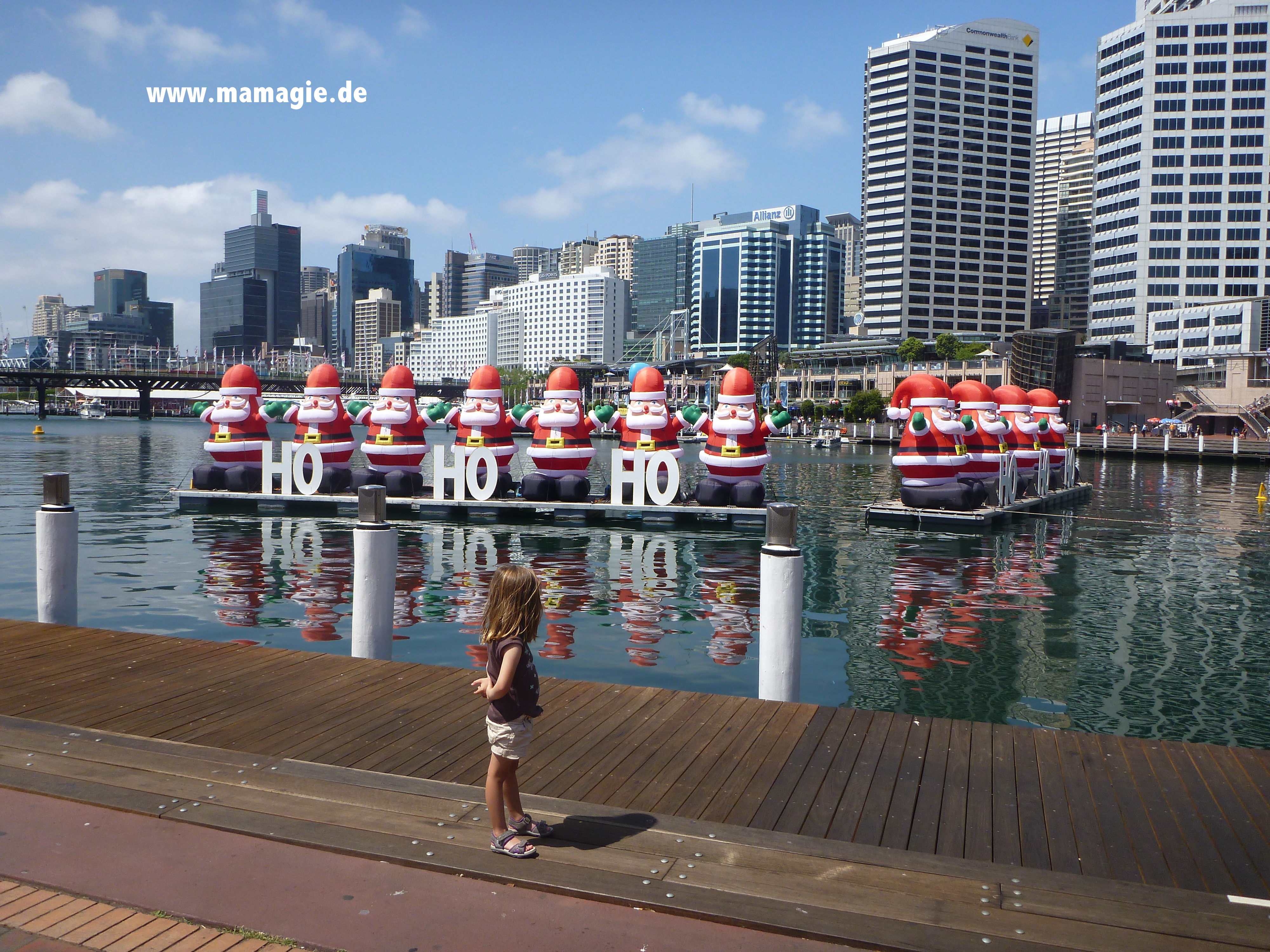 Weihnachtsdeko in Sydney
