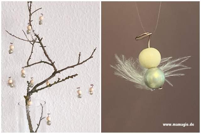 Hübsche Weihnachtsengel aus Perlen