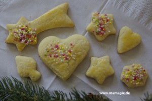 Rezept für Ausstecher, Weihnachtskekse