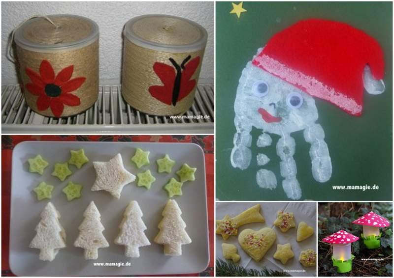 Weihnachtsgeschenke machen mit Kindern